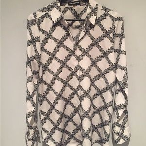 Karl Lagerfeld black and white blouse. Size small